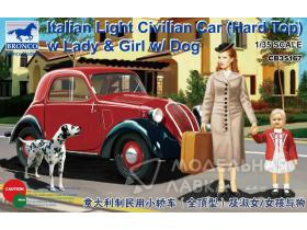 Italian Light Civilian Car (Hard Top) w/Lady & Girl & Dog