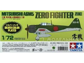 Mitsubishi A6M5 Zero Fighter (Zeke) Silver Plated