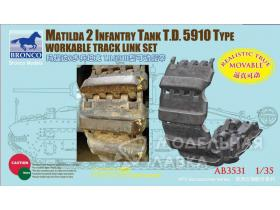 Matilda 2 Infantry Tank T.D.  5910 Type Workable Track Link Set