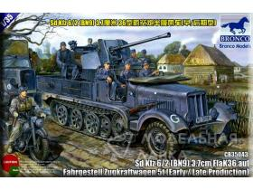 Sd.kfz 6/2 (BN9) 3.7cm Flak36 half-track 5t (Early/Late Production)