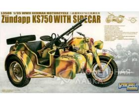 WWII German Zundapp KS 750 with Sidecar/w trailers
