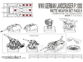 WWII German Landcruiser P.1000 Ratte Weapon Set Pack II