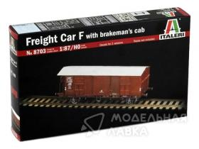 Freight Car F with brakeman`s cab
