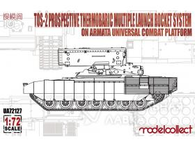 TOS-2 Prospective Thermobaric MuLtlplelaunch Rocket System on Armata Universal Combat Platfo