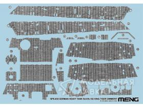 German heavy tank Sd.Kfz.182 King Tiger Zimmerit Decal Meng Model