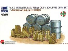 WWII Hungarian 20L Jerry Can & 200L Fuel Drum Set