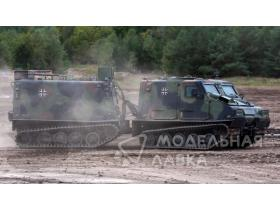 Bandvagn Bv 206S Articulated Armored Personnel Carrier with interior