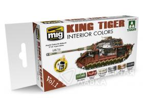 Набор акриловых красок KING TIGER INTERIOR COLOR (SPECIAL TAKOM EDITION) VOL.1 6*17ml