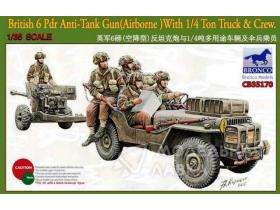 British 6 Pdr Anti-Tank Gun (Airborne) With 1/4 Ton Truck & Crew