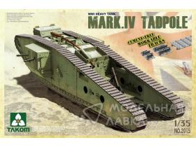 WWI Heavy Battle Tank Mk.IV Male Tadpole Workable track & wheels; 2 decal options.