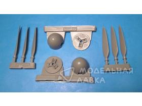 Messerschmitt Me410B corrected propellers and spinners for Meng kit