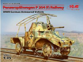 WWII German Armoured Vehicle Panzerspahwagen P 204(f) Railway