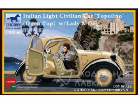 Italian Light Civilian Car (Open Top) w/Lady & Dog