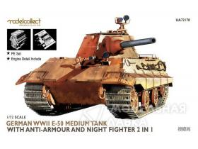 German WWII E-50 Medium Tank with Anti-Armour and Night Fighter 2 in 1