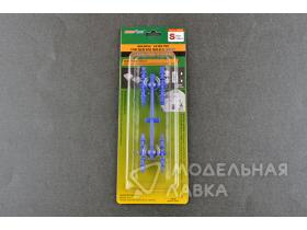 Holding/Guide pin for silicone mould-S (Blue)