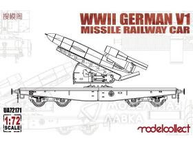 WWII Germany V1 Missile Railway Car