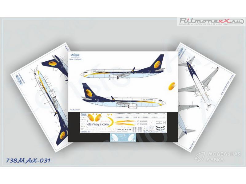 Декаль на самолет Boeing 737-8 MAX Jet Airways